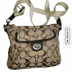 Coach Signature Penelope Turnlock Mini Crossbag